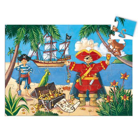 Puzzle el pirata y su tesoro 36 piezas Contiene 36 Piezas.