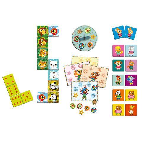 Juegos clásicos memorice, bingo y dominó