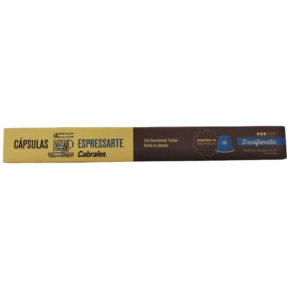 Café descafeinado en cápsulas compatible con Nespresso