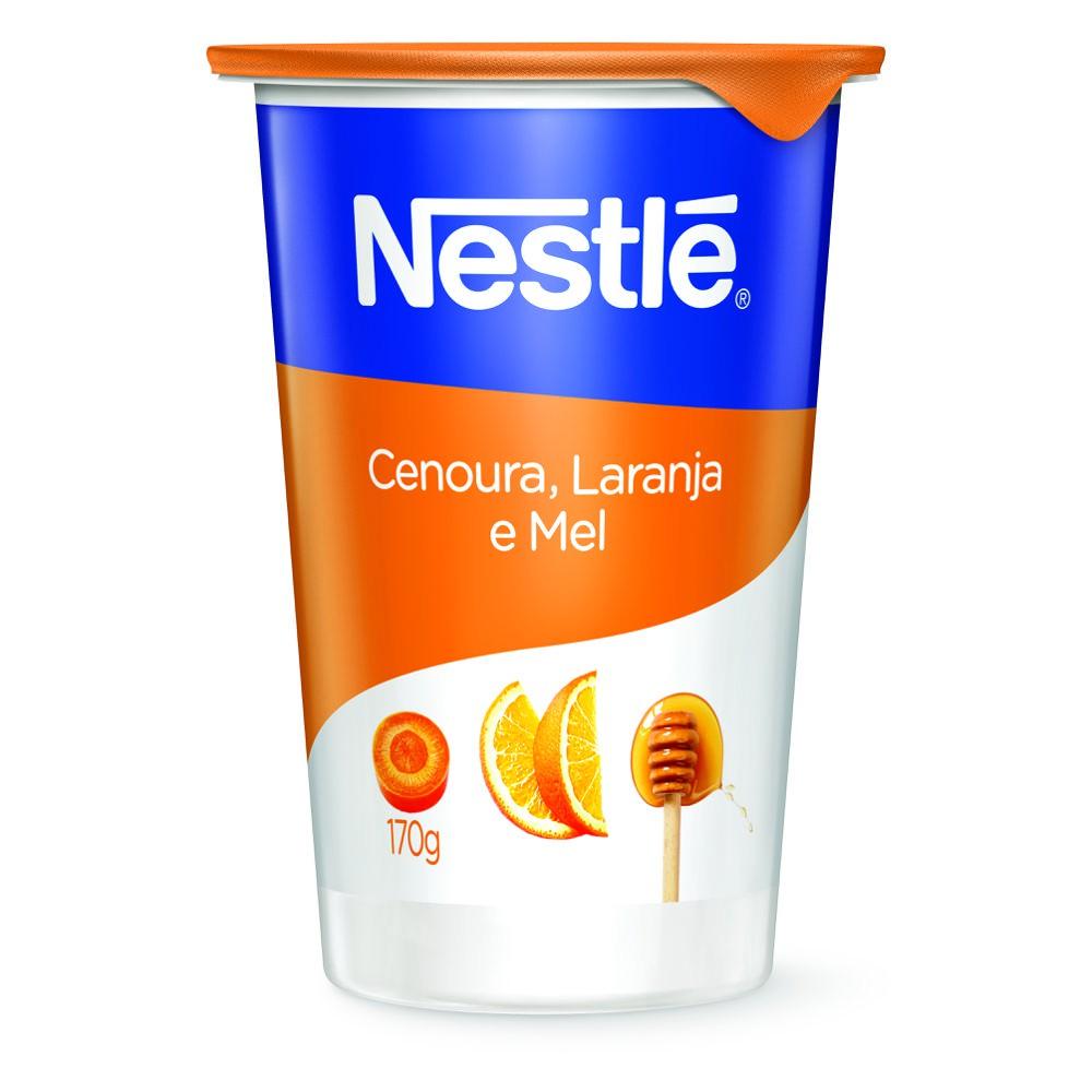 Iogurte natural cenoura, mel e laranja
