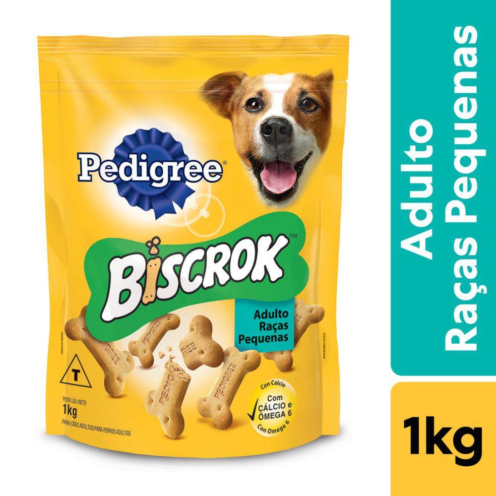Biscoito Biscrok adultos raça pequena 1kg