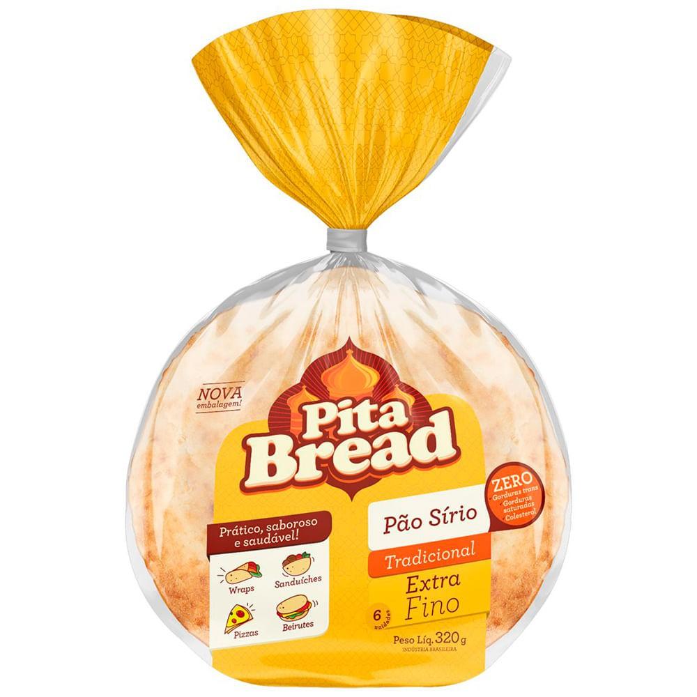 Pão sírio extra fino