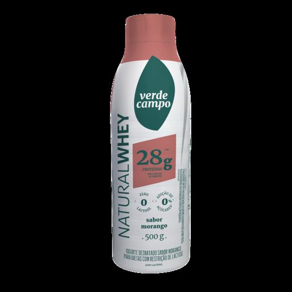 Iogurte de morango zero lactose Natural Whey