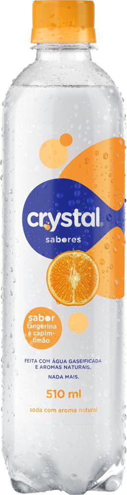 Água saborizada com gás Sparkling tangerina e capim limão