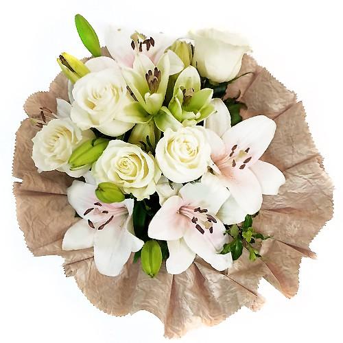 Ramo de liliums y rosas  ( Flores Naturales )