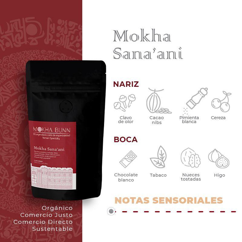 Mokha Sana'ani   en Granos   Café De Especialidad 250 gr
