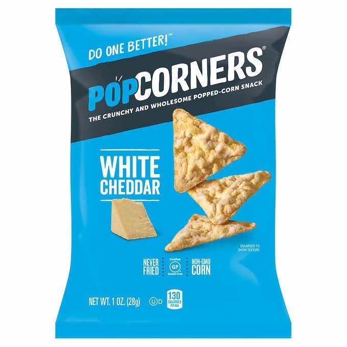 Snacks de plaomita de maiz white cheddar