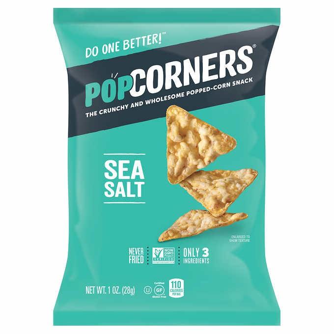 Snacks de palomitas de maiz sea salt