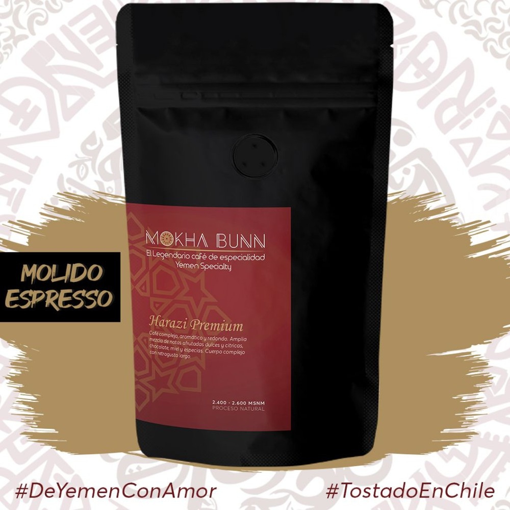 Harazi premium   Molido Para Espresso, Árabe y Turco   Café De Especialidad 250 gr