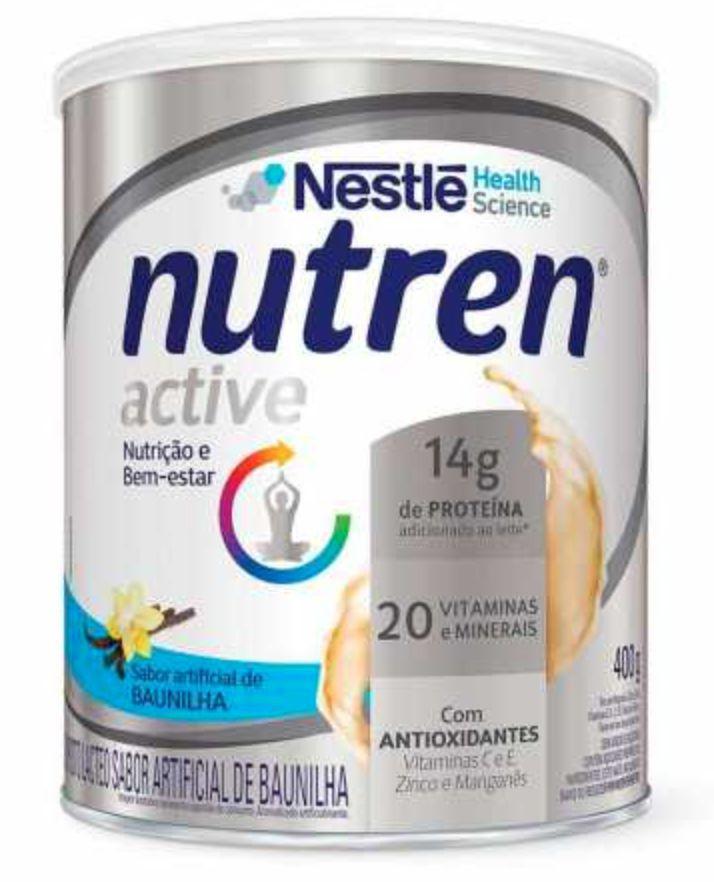 Suplemento alimentar sabor baunilha Nutren active