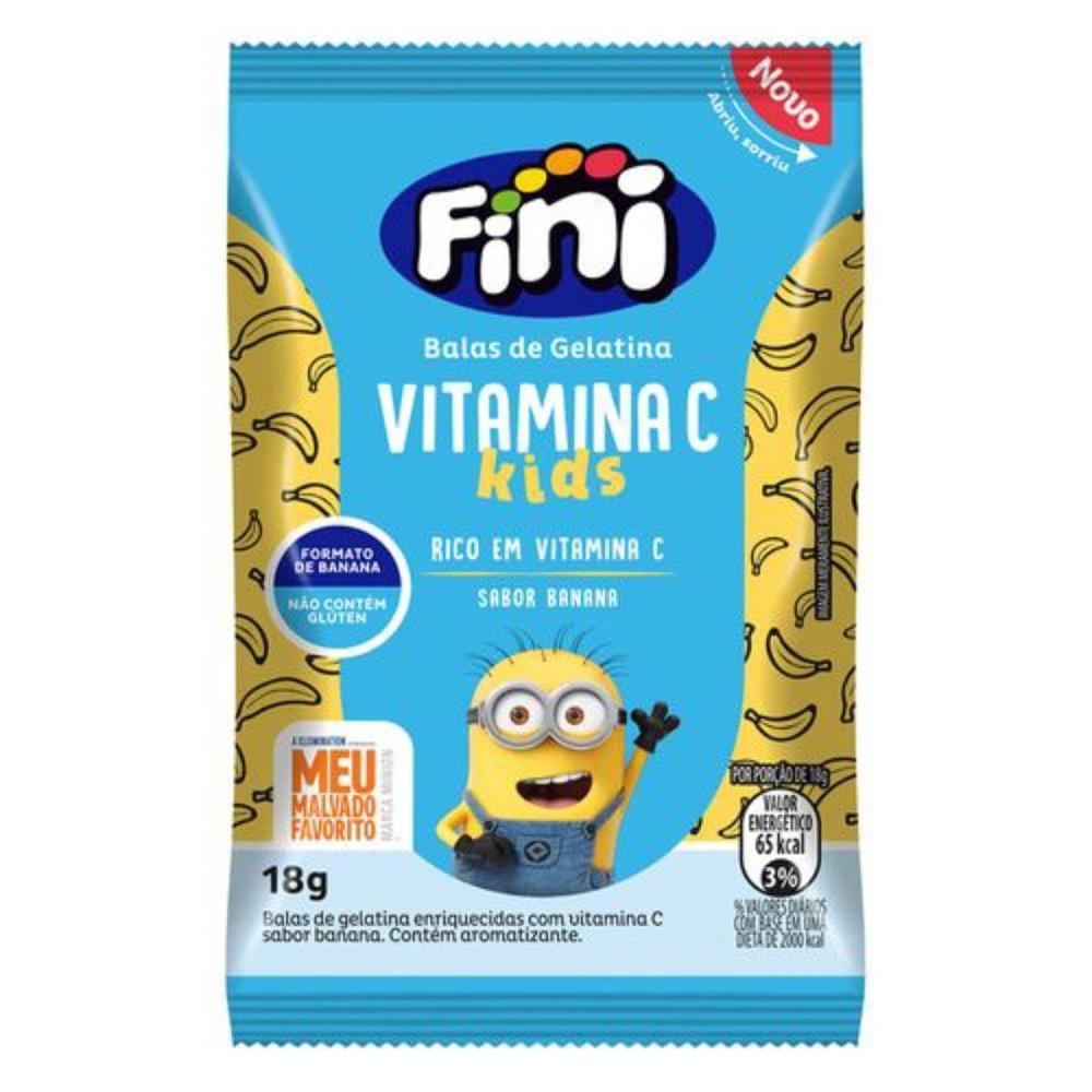 Bala de Gelatina Fini Vitamina C Kids Sabor Banana