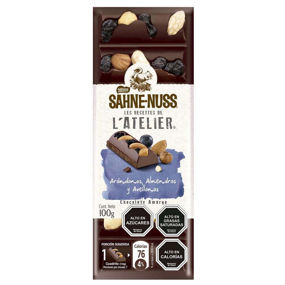 Chocolate con arándanos y frutos secos