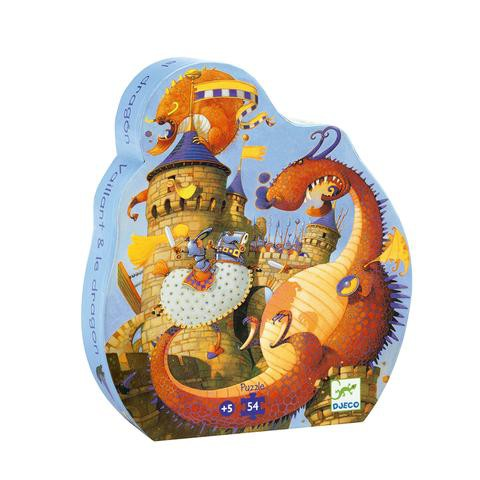Puzzle caballero y el dragón 54 piezas 24 x 27 x 6cm. Contiene 54 piezas
