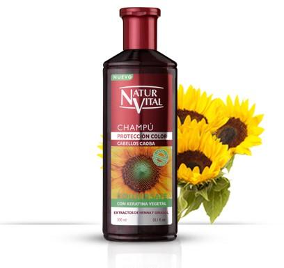 Shampoo a la henna cabellos caoba 300 ml.
