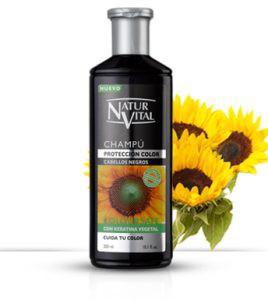 Shampoo a la henna cabellos negros 300 ml.