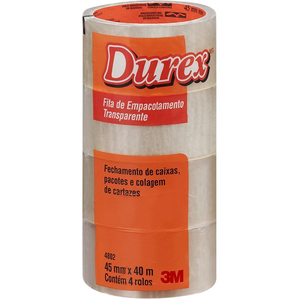 Fita adesiva pp 45mmx40m transparente Durex