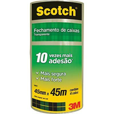 Fita adesiva transparente Scotch 4 unidades