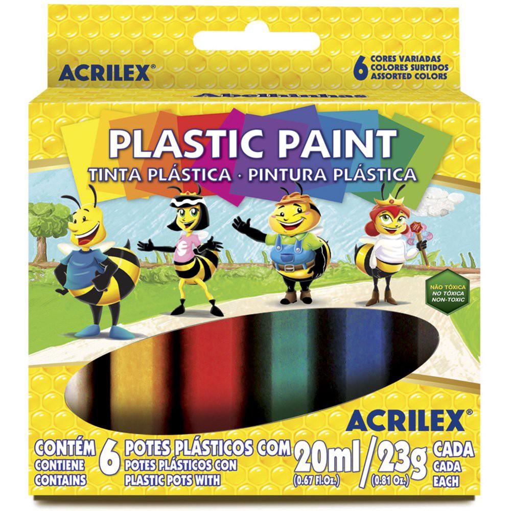Tinta Plástica com 6 cores