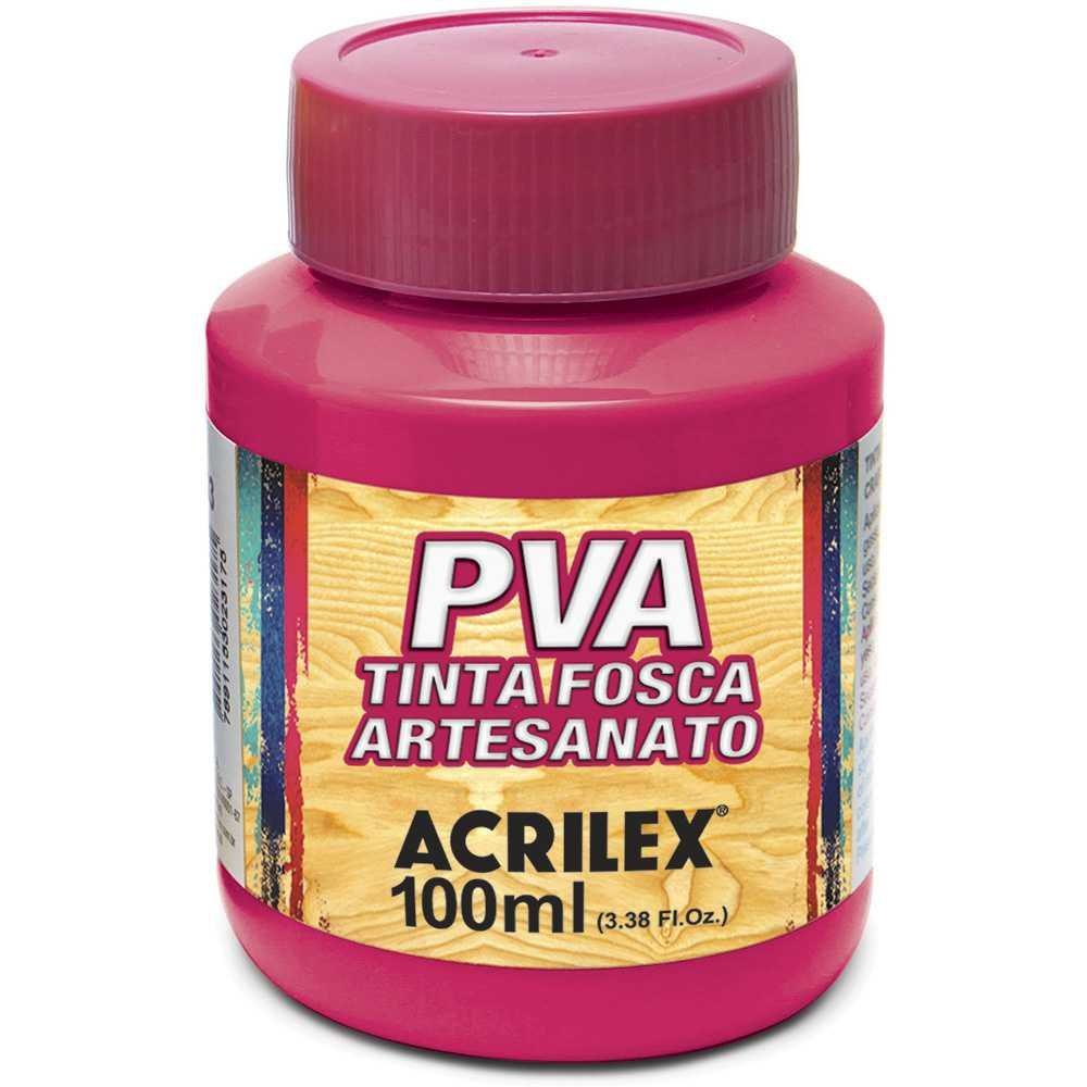Tinta PVA p/ artesanato rosa escuro 100ml 03210