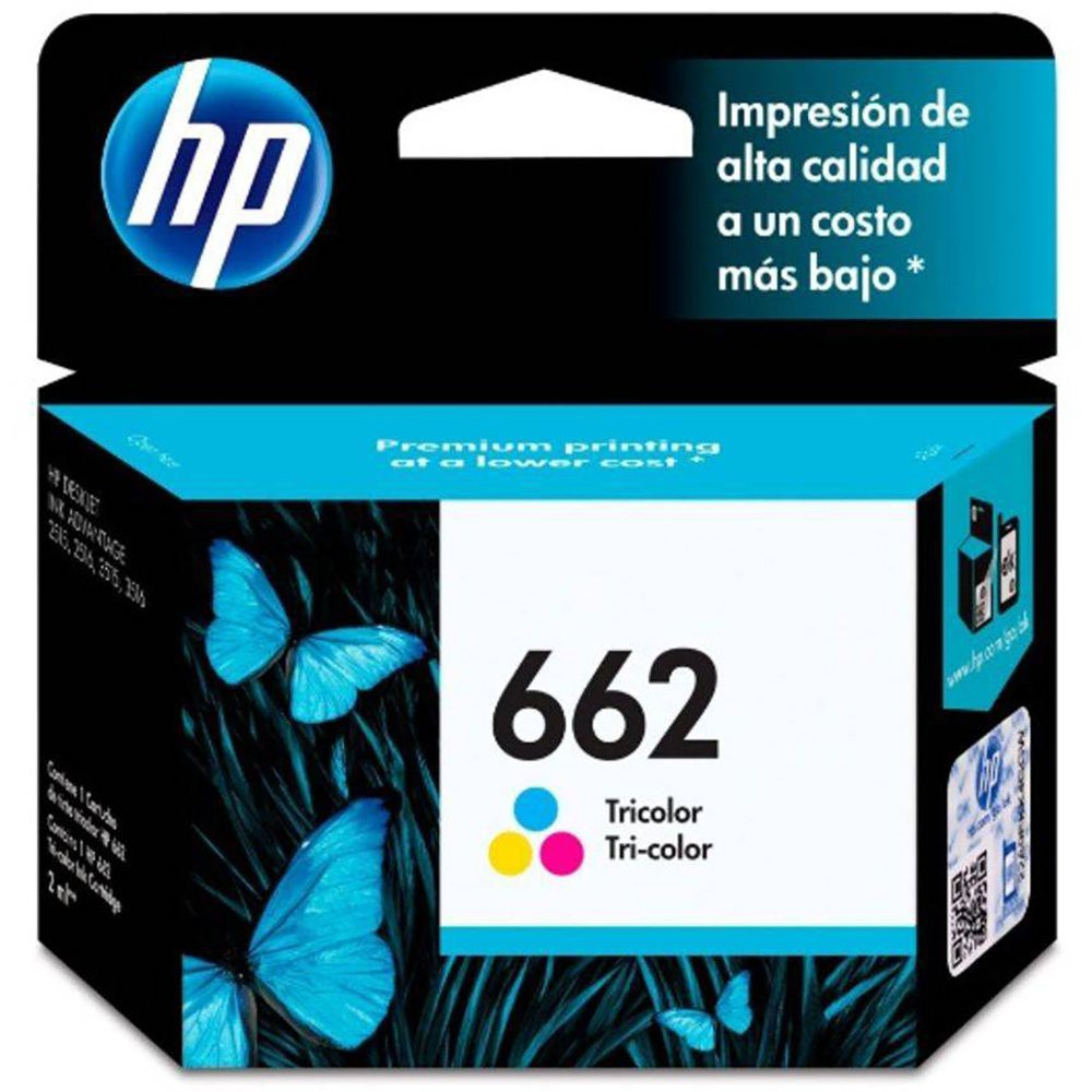 Cartucho 662 Colorido Original (CZ104AB) Para DeskJet 2516, 3516, 3546, 2546, 1516, 4646, 2646