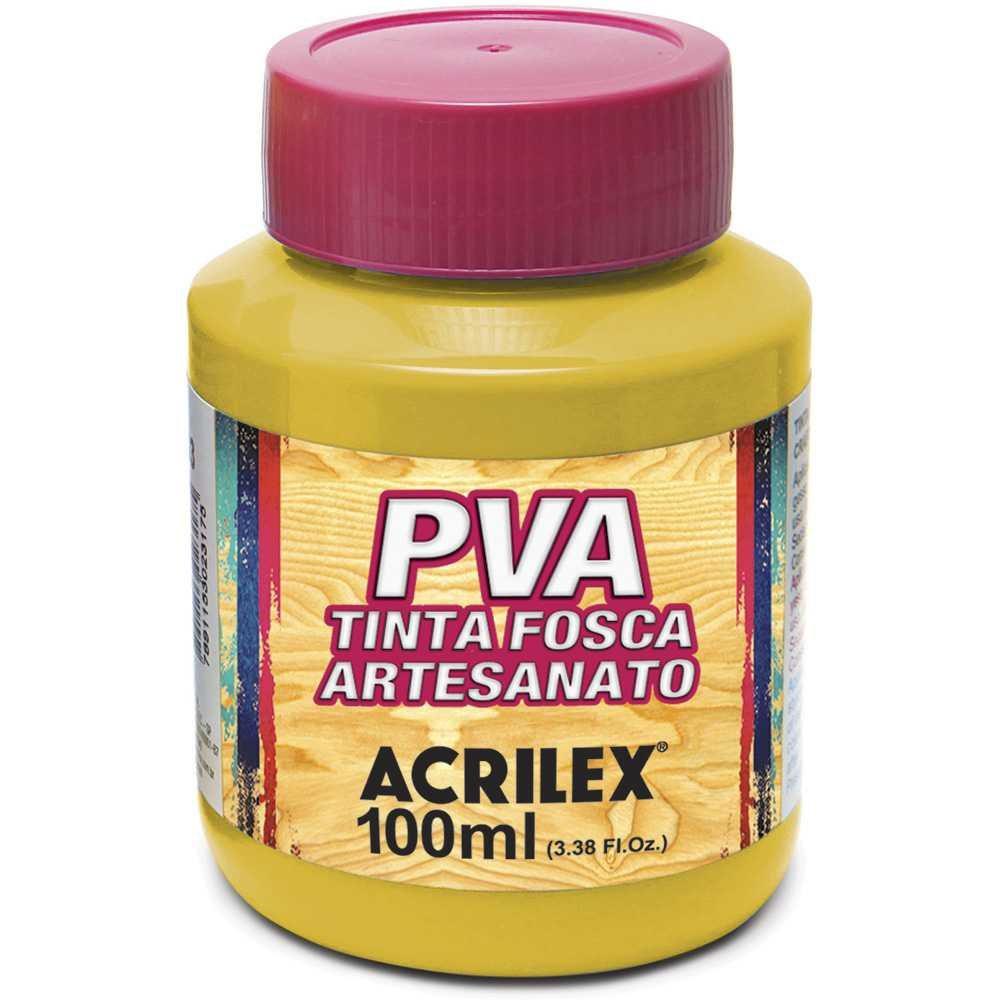 Tinta PVA p/ artesanato amarelo100ml 03210