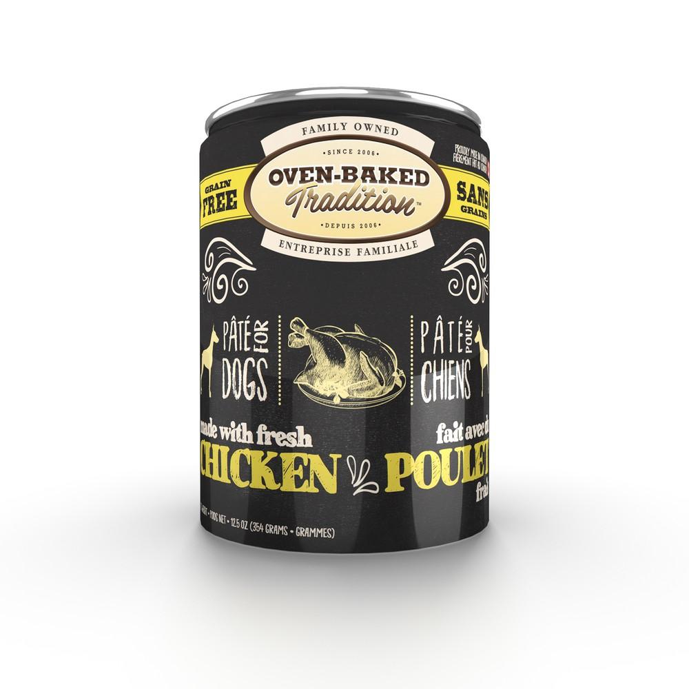 Chicken pâté canned dog food
