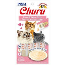 Churu - Tuna with salmon recipe 4 tubitos