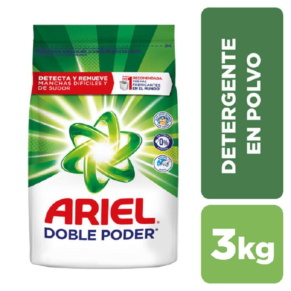 Detergente polvo doble poder