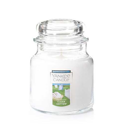 Vela aromática jar mediana clean cotton Frasco Jar Mediano 820 g