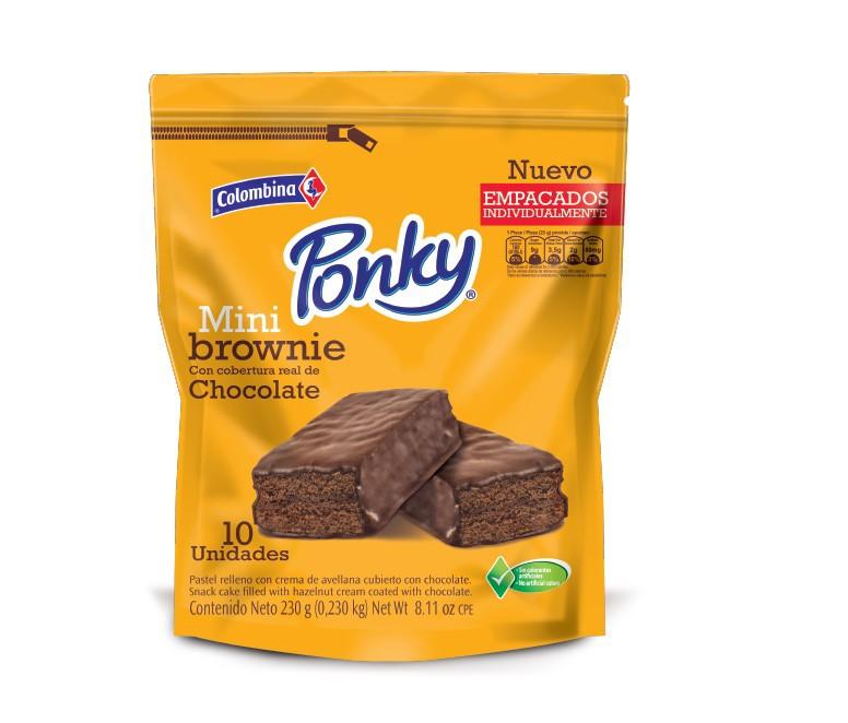 Pastel ponky brownie