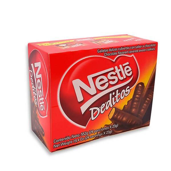 Galleta deditos chocolate