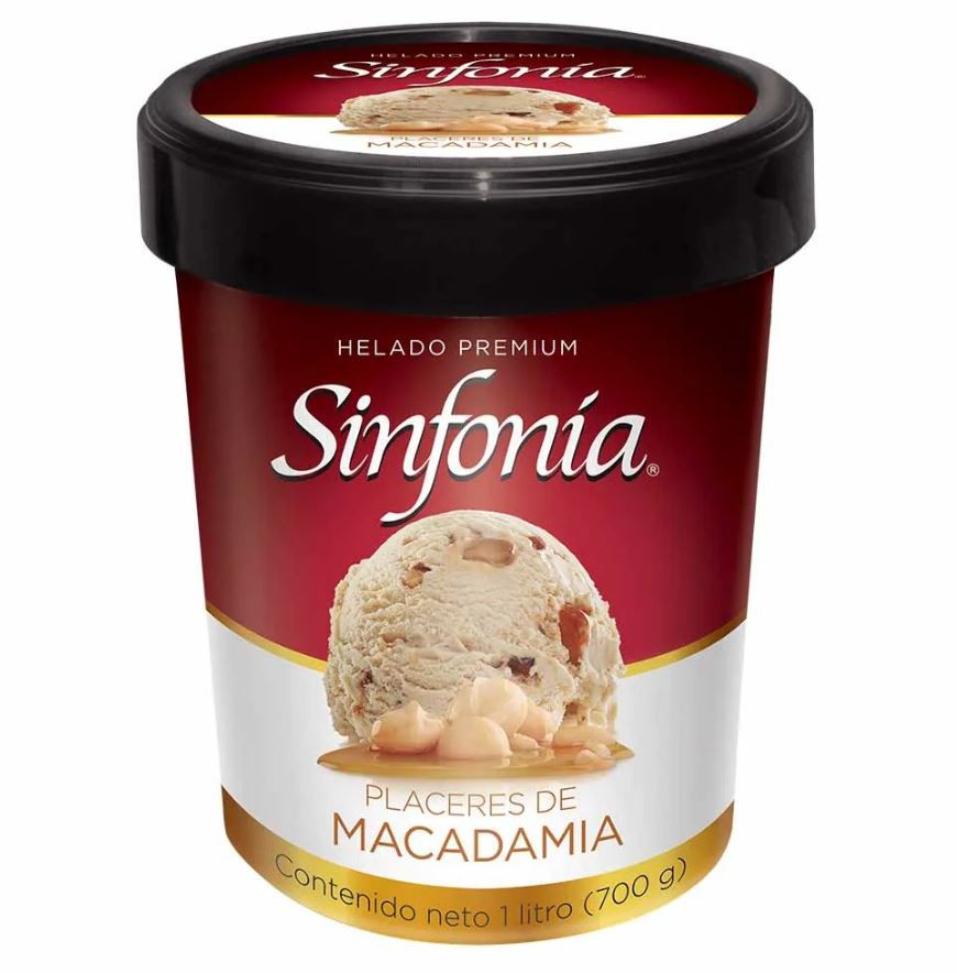 Helado placeres macadamia