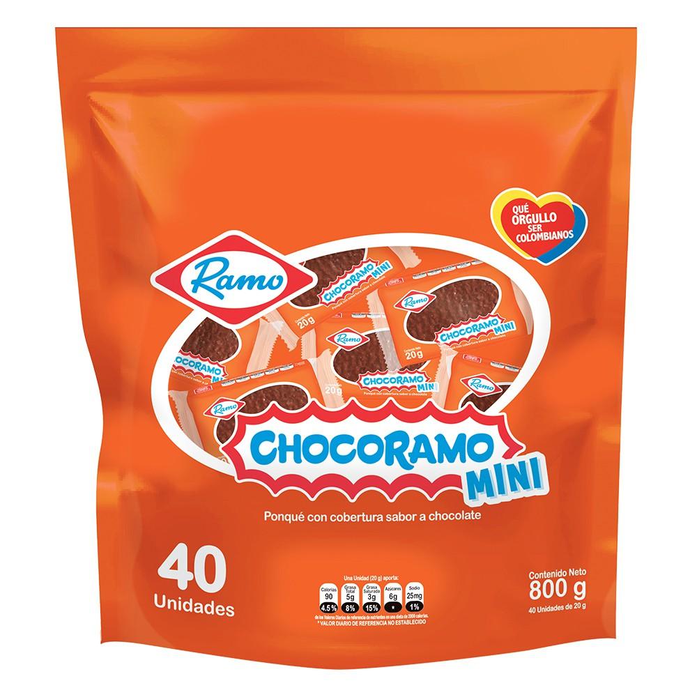 Ponqué con cobertura de chocolate mini