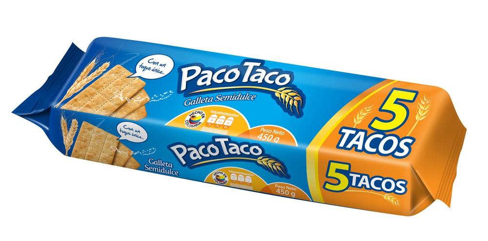 Galletas paco taco semidulces