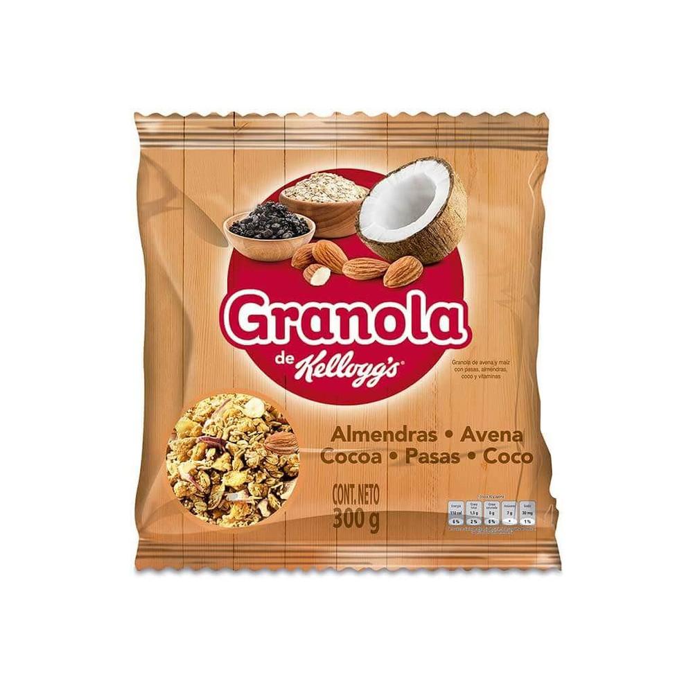 Granola kelloggs con almendras