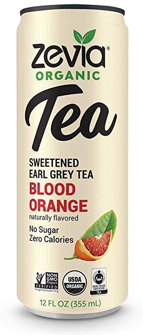 Blood orange earl grey tea drink