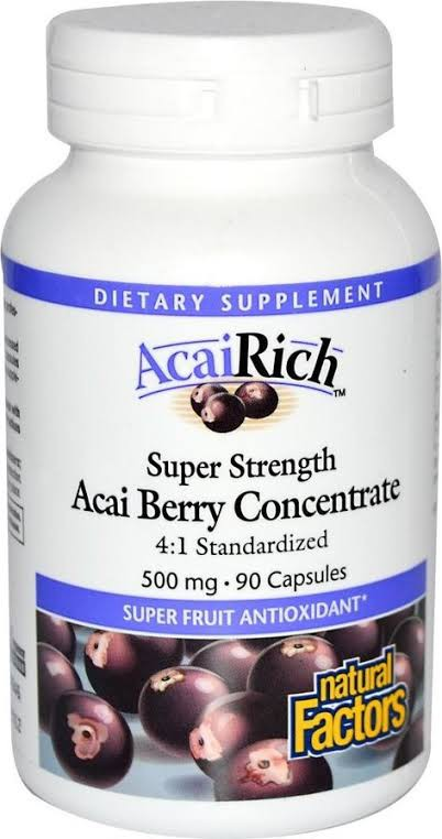 AcaiRich Super Strength Acai Berry Concentrate 500 mg Capsules