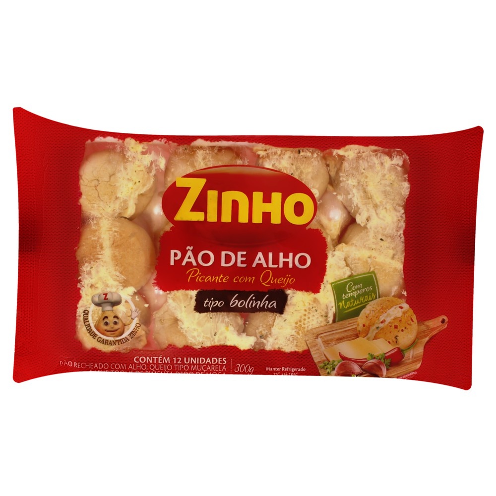 Pão de alho bolinha recheio picante
