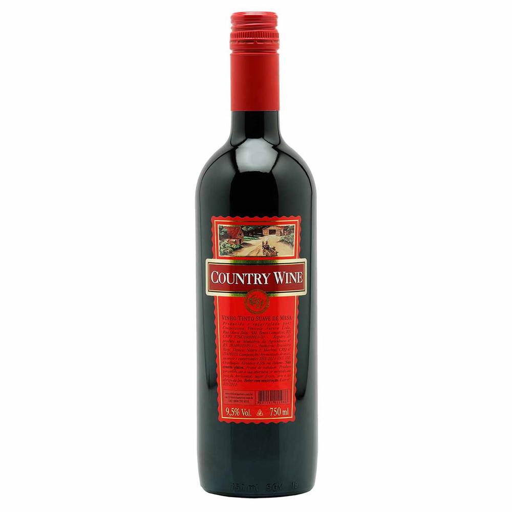 Vinho tinto suave de mesa Country Wine