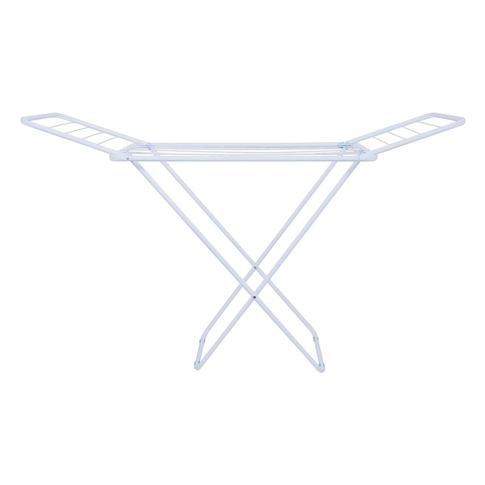 Varal de chão com abas slim aço lavanderia