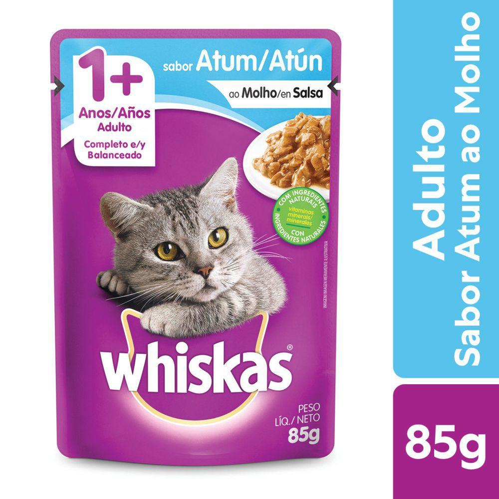 Ração úmida para gatos adultos sabor atum 85g