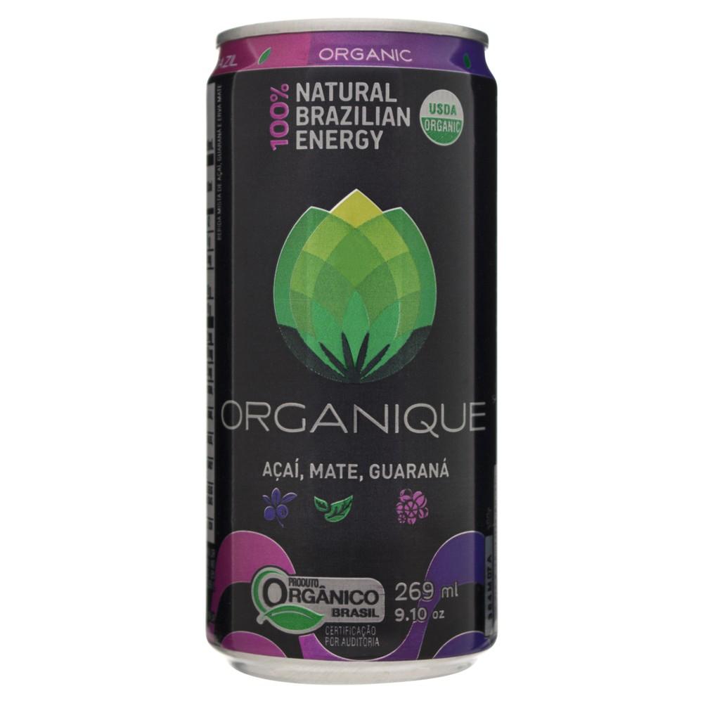 Energético orgânico açaí, mate e guaraná