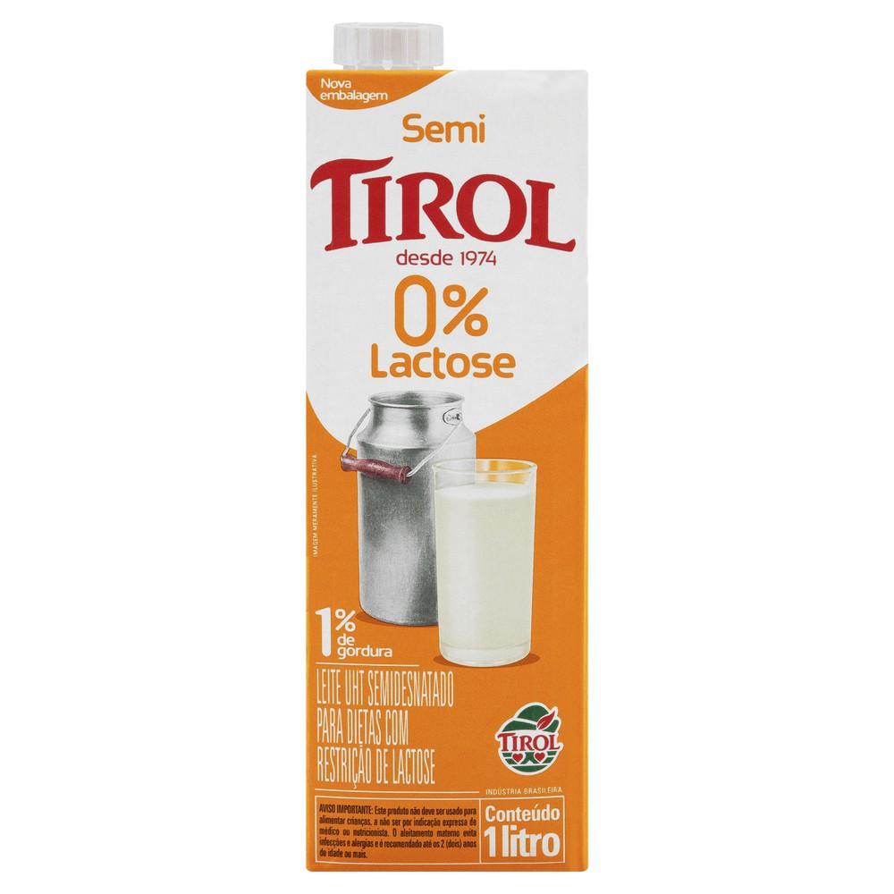 Leite semidesnatado zero lactose UHT