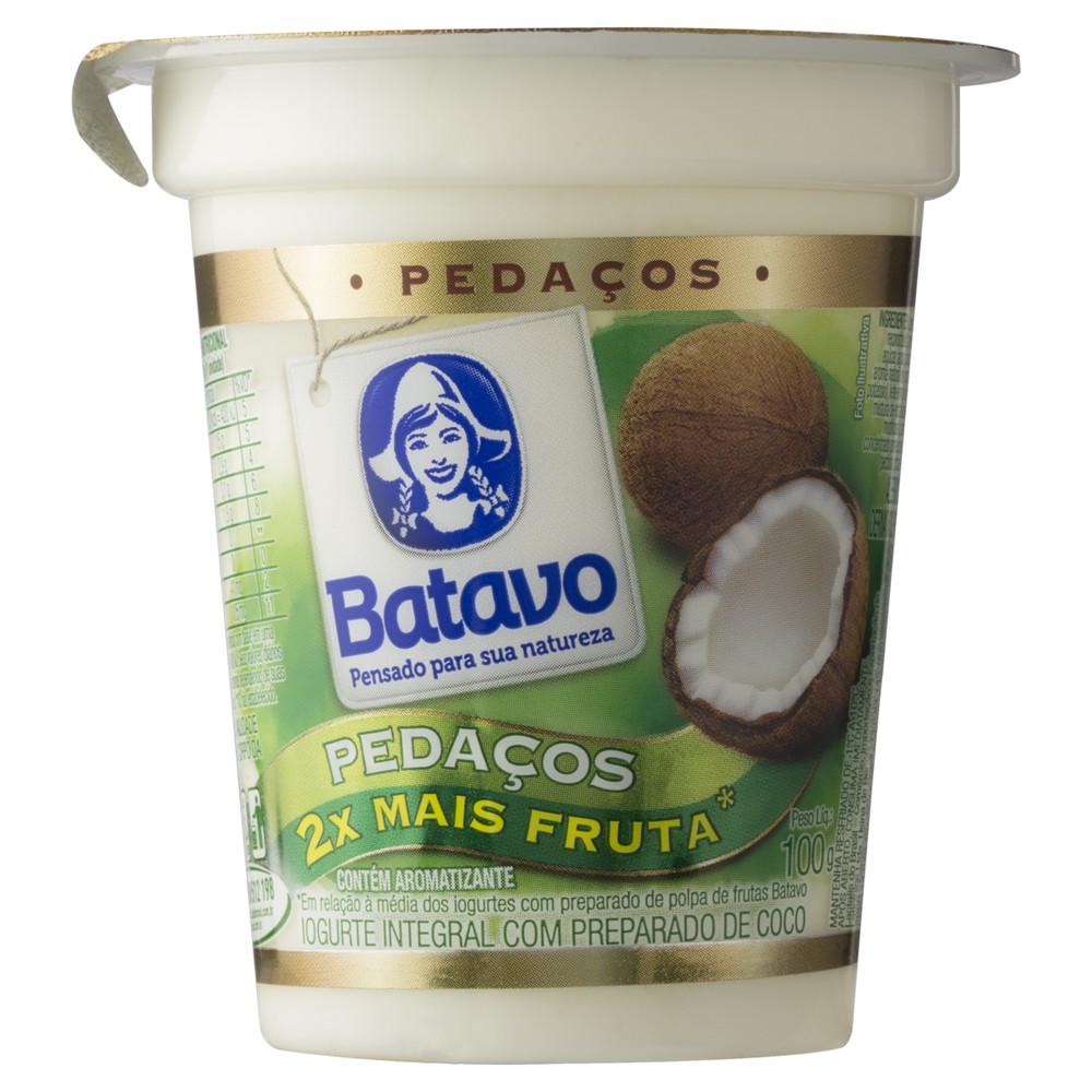 Iogurte integral coco pedaços