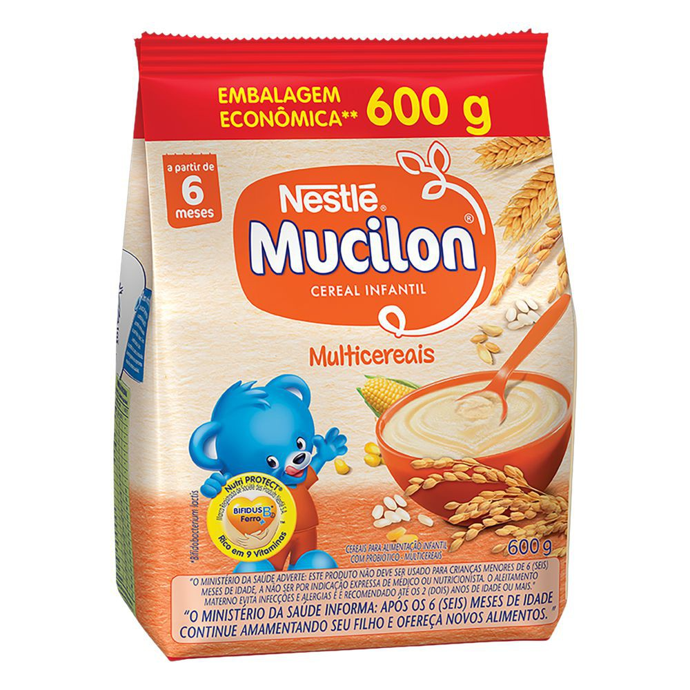 Cereal infantil multicereais Mucilon