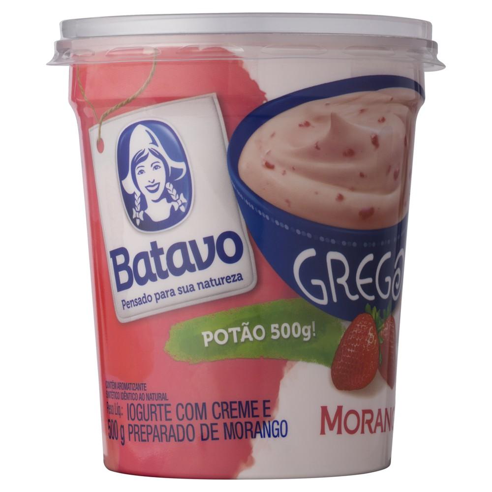 Iogurte grego sabor morango