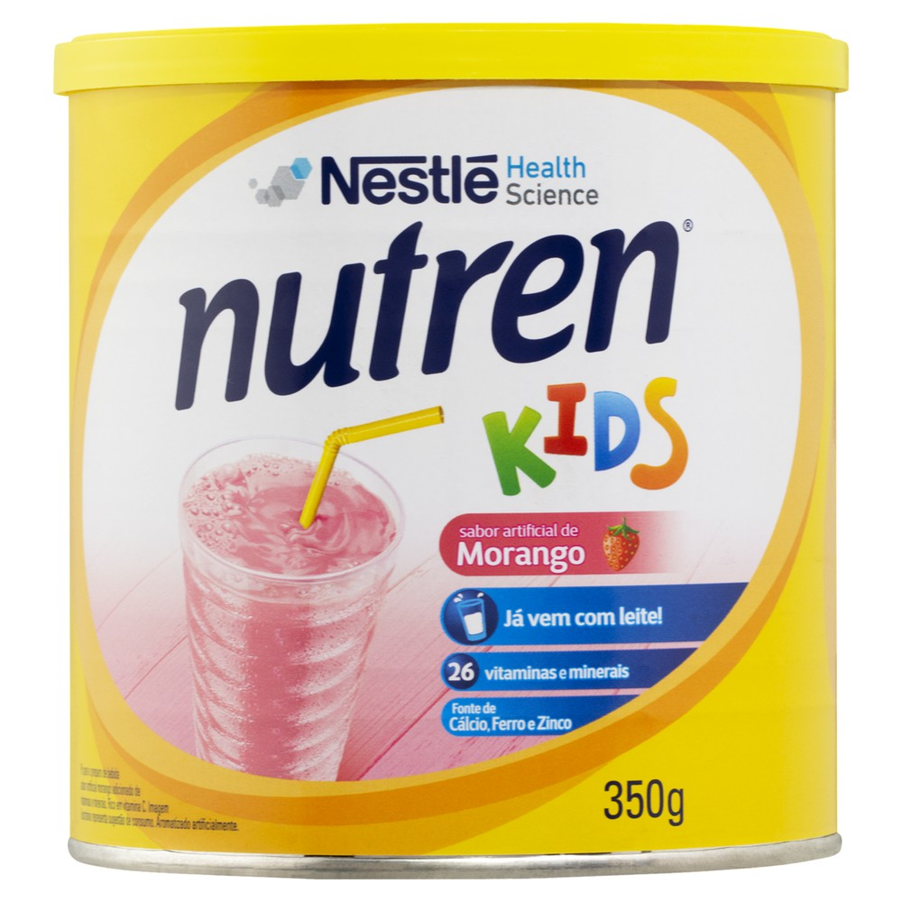 Suplemento alimentar sabor morango Nutren kids