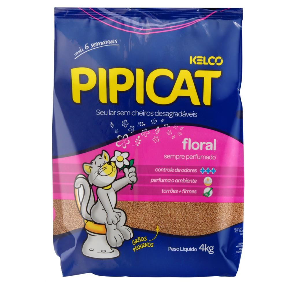 Areia sanitária para gatos Pipicat floral