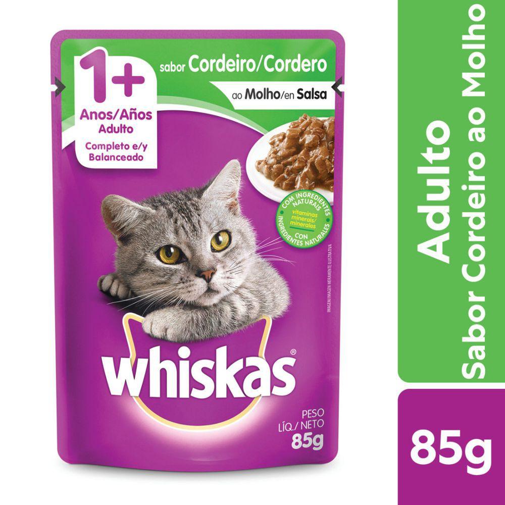 Sachê para gatos adultos cordeiro ao molho 85g