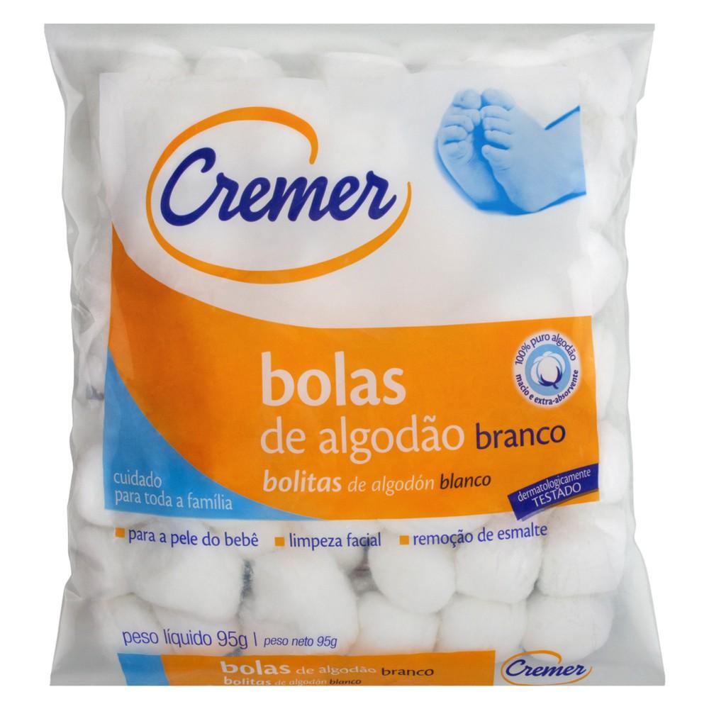 Bolas de algodão branco